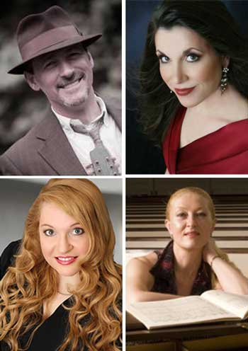 Clockwise from top left: Aldo Fabrizi, Elaine Crane, Olga Rogach, and Angela Jajko